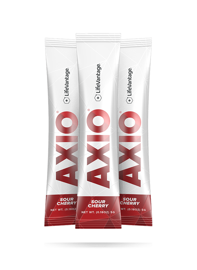 Packets of AXIO Sour Cherry