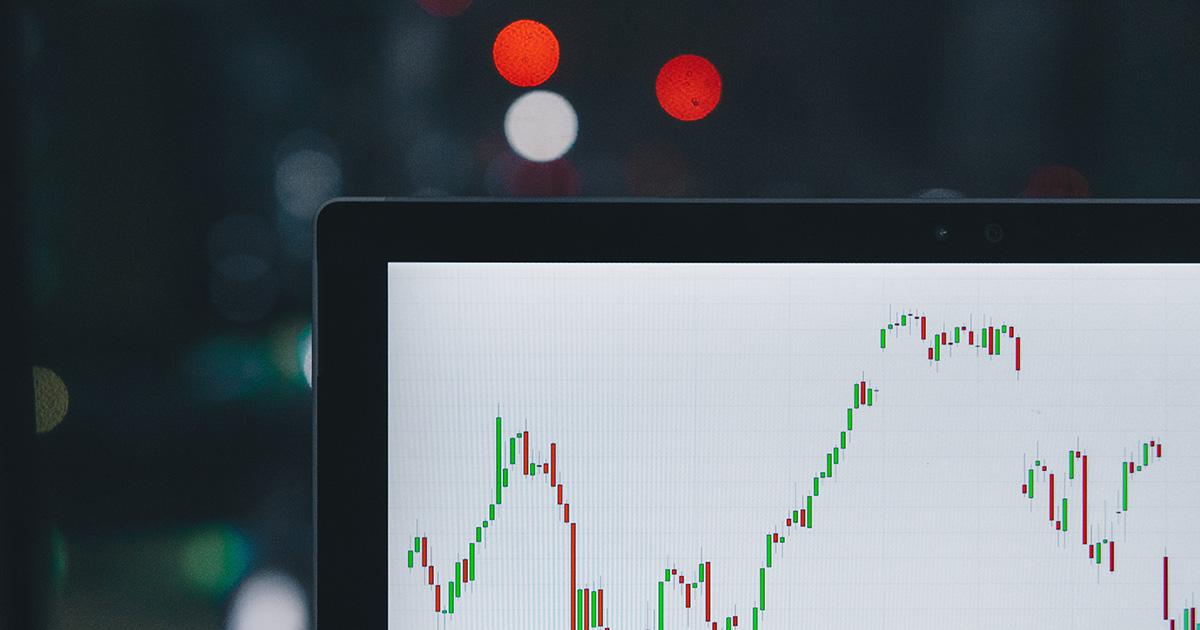 Closeup of stocks report