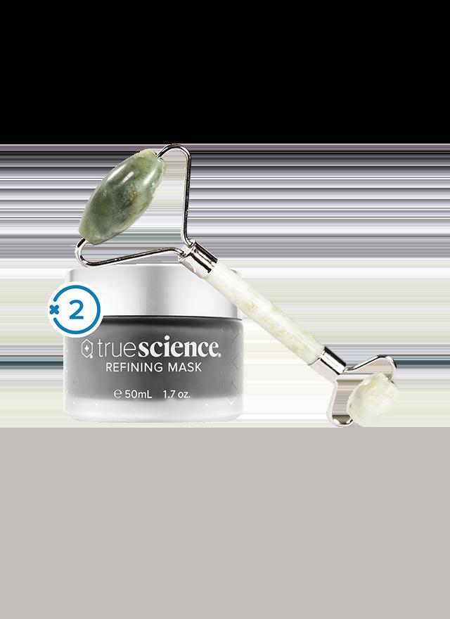 (2) TrueScience Refining Mask + (1) Free TrueScience Jade Roller