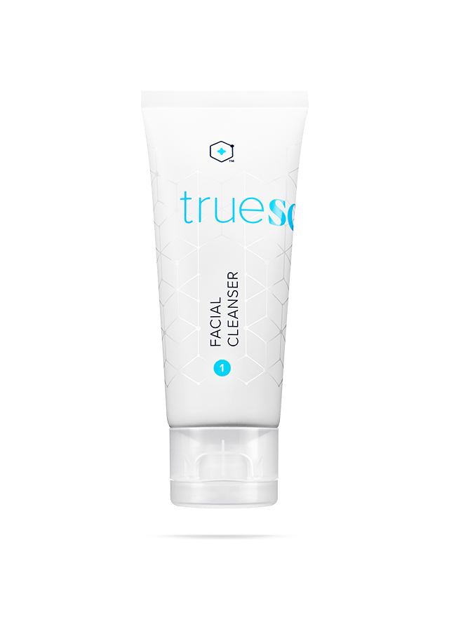 bottle of truescience facial cleanser
