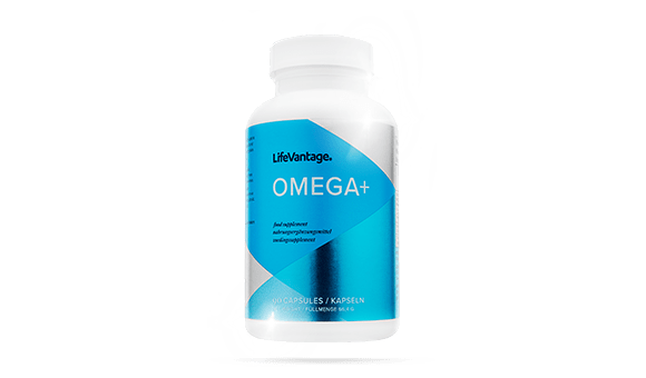 bottle of omega plus for the product wall