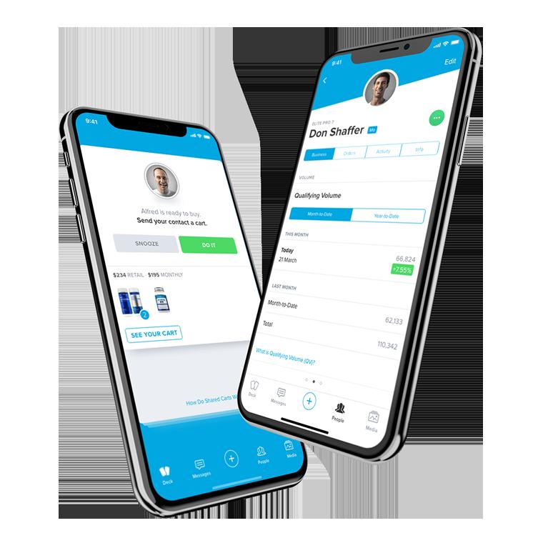 Phones showing app screens