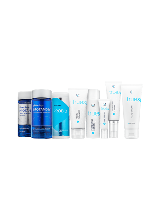 lineup of products that come in variety bundle