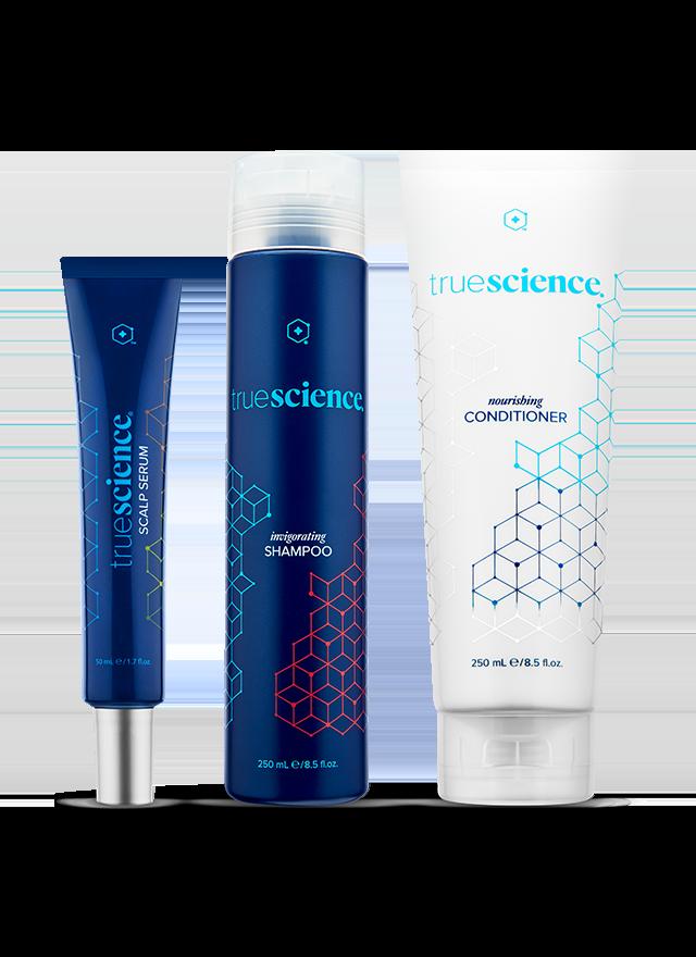 TrueScience Hair Care System bottles