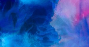 Pink and Blue Watercolor Blots