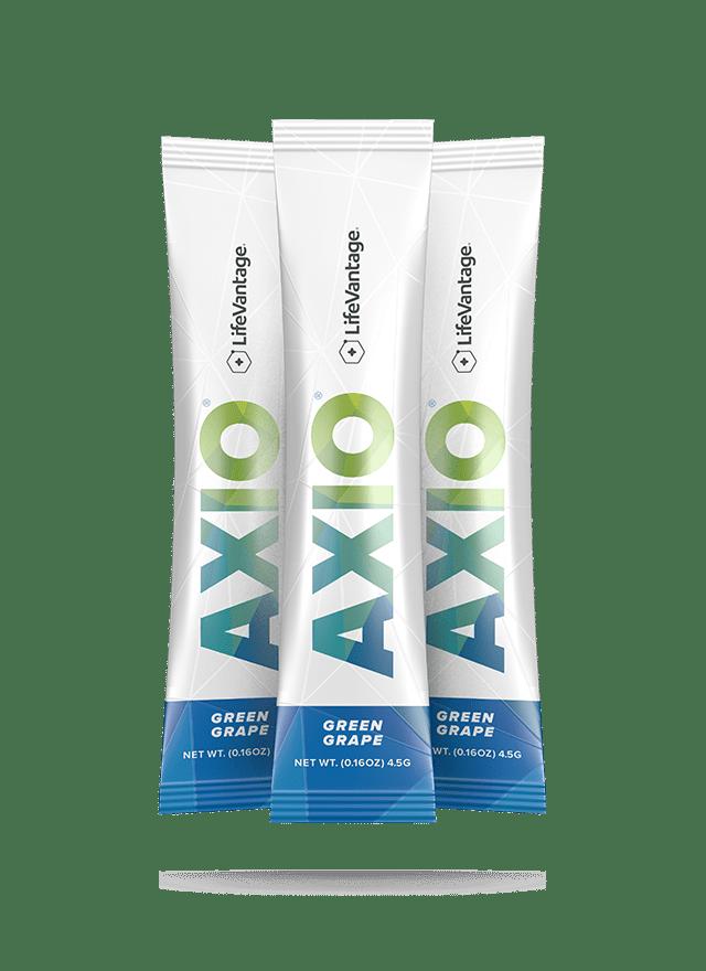Packets of AXIO Green Grape
