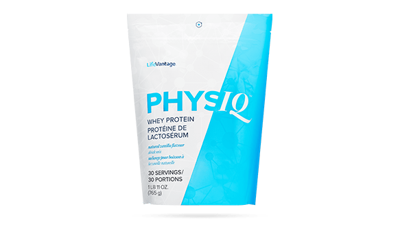 bag of protein for the product wall