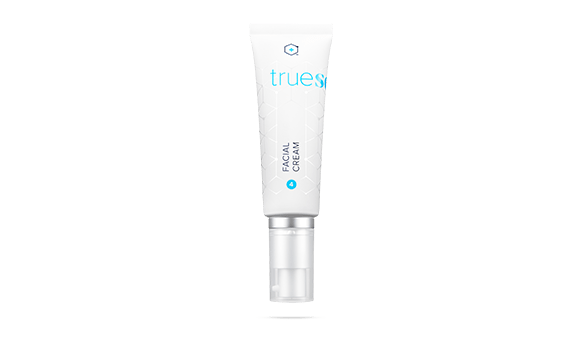 tube of facial cream for the product wall