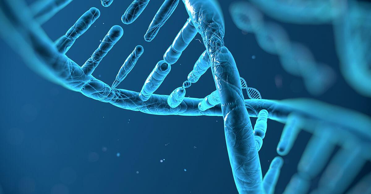 Blue double helix