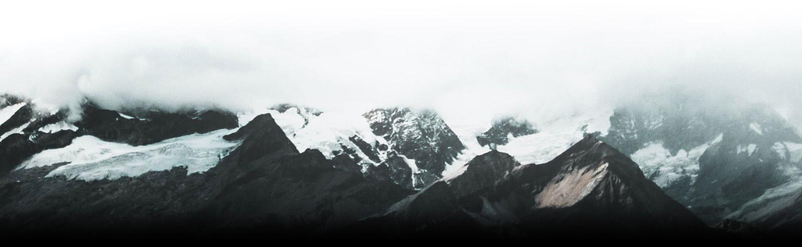 Cloud Covered Mountain Range