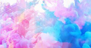 Pink, Orange and Blue Ink Cloud