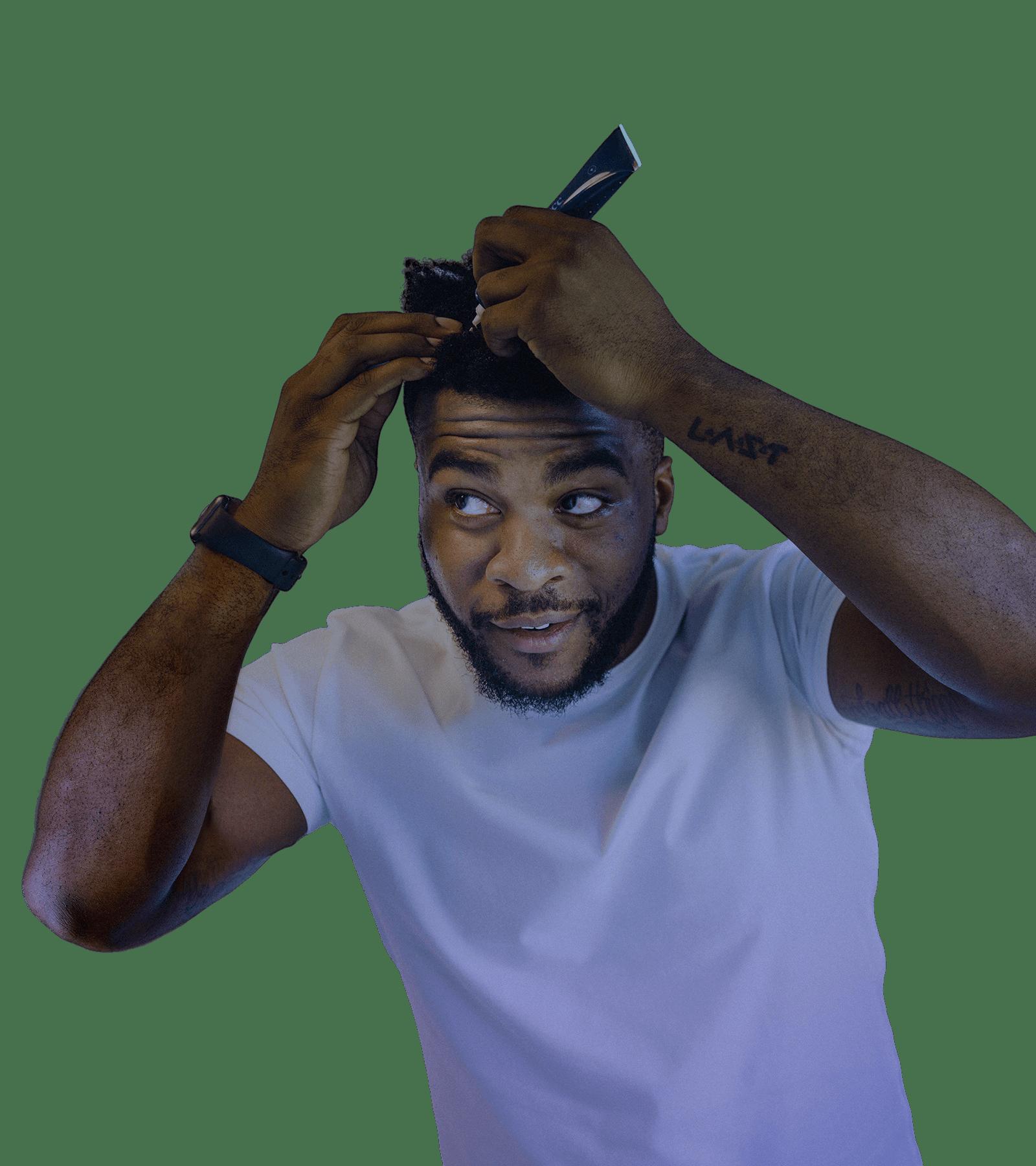 Man Applying Scalp Serum