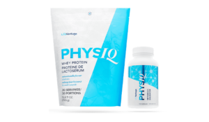 PhysiQ Protein Bag and PhysIQ Metabolic Enhancer bottle