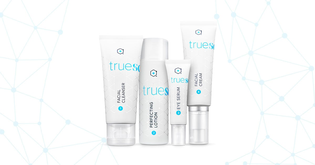 Bottles of Truescience Beauty System