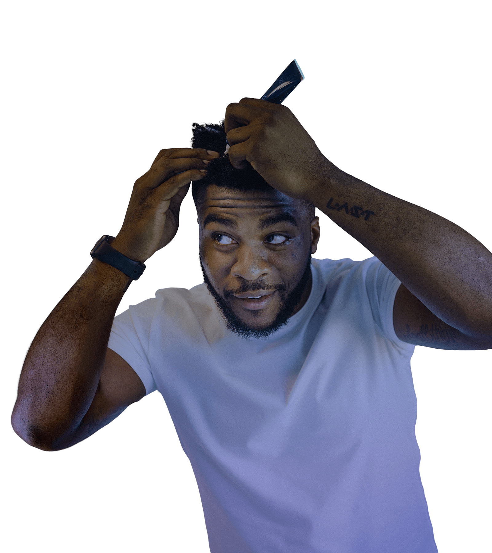Man Applying Scalp Serum
