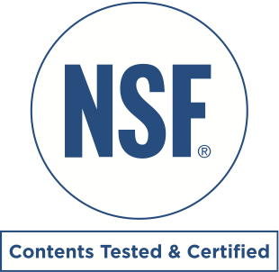 NSF Contents Tested & Certified