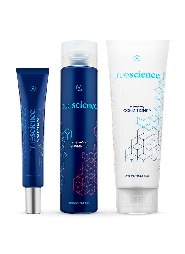 TrueScience Hair Care System bottles